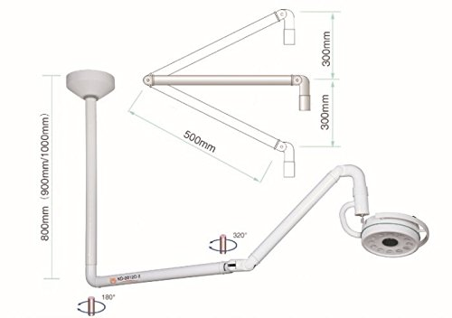 36 W Shadowless Exam Light Ceiling Medical Exam Lamp Surgical Examination Light CE FDA US Stock