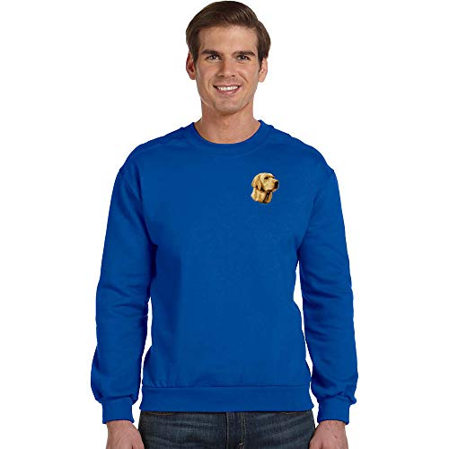 Cherrybrook Breed Embroidered Anvil Mens Crew Sweatshirt - Small - Royal Blue - Labrador Retriever