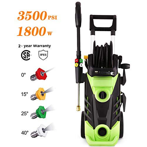 Homdox 3500 PSI Electric Pressure Washer, 2.60 GPM Power Washer Electric High Pressure Cleaner Machine