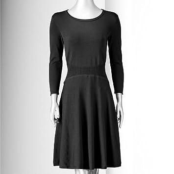 a9f6a8044d3 Amazon.com   Simply Vera Vera Wang Women s Fit   Flare Sweater Dress ...