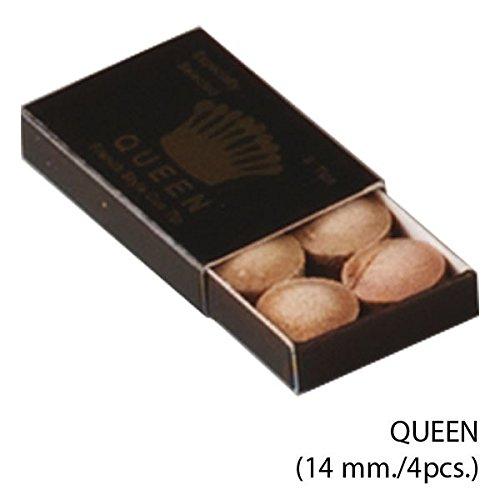 Suela para tacos de billar Queen 14mm 4uds