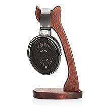 Vmank Merbau Wooden Headphone Stand Holder, Desk Headset Hanger, Fit Sennheiser, Sony, Bose, Shure, Beats, Jabra, AKG Headphones