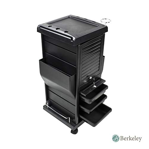 (Claire Lockable Salon Trolley Cart Perfect for Hair Salon,Tattoo Studio, Spa, Office, Skincare, Day Spa)