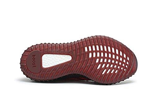 Boost 350 V2 Mens Donna Scarpe Sportive In Maglia Traspirante Pizzo Scarpe Unisex Sneakers Serie Zebra Rosso / Bianco