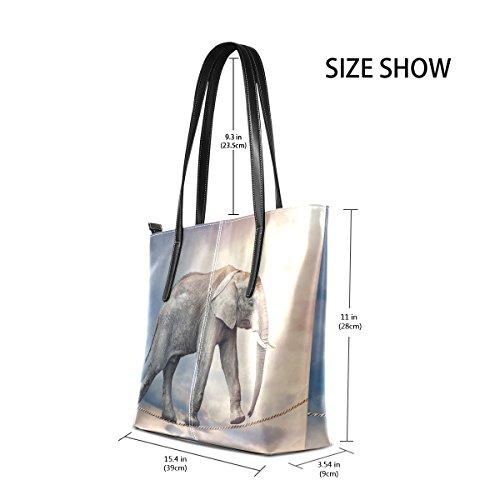Coosun Elephant On Tightrope Pu Leder Schultertasche Handtasche Und