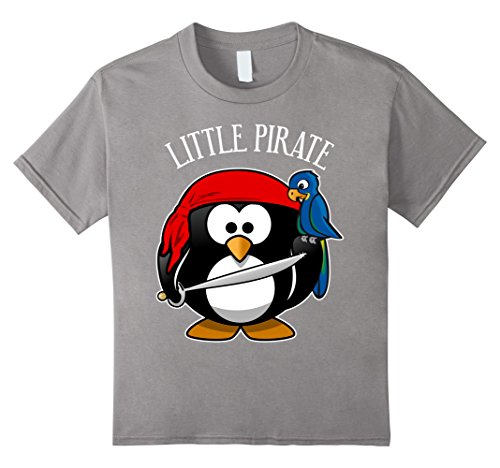 [Kids Cute Penguin Pirate Costume Shirt for Kids, Men & Women 8 Slate] (Parrot Costume Female)