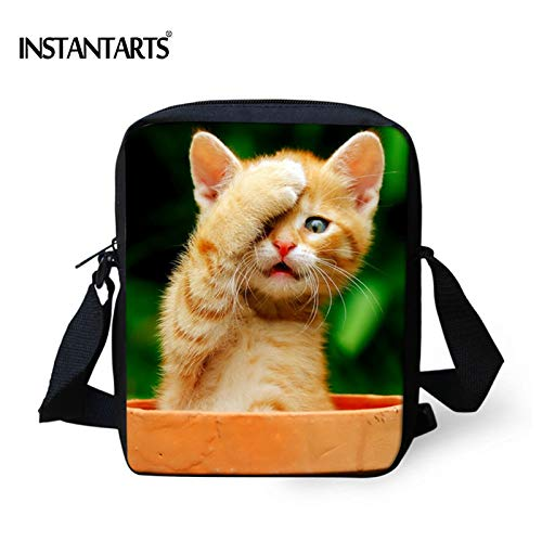 271475a5c3e7 HITSAN INCORPORATION INSTANTARTS Kawaii Cat Women Messenger Bag Famous  Brand Small Crossbody Bags for Ladies 3D