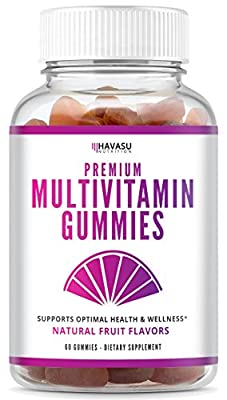 Premium Multivitamin Gummies for Men and Women: Vitamin A C D3 E B6 B12 + Zinc & Others - Gluten Free, Immune Health, 60 Count