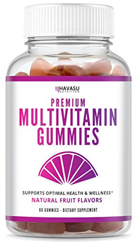 Havasu Nutrition Multivitamin Gummies for Men and Women with Vitamin A, C, D3, E, B6, B12, and Zinc - Natural Support for Multiple Systems and Immune Health, Non-GMO, Gluten Free, 60 Count
