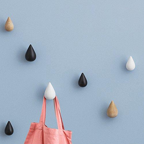 Vivona HN-48 Brief Water Drop Shaped Hook Wooden Decorative Wall Mounted Hanger Bedroom Bathroom Living Room Coat Hooks Hat Hangers Artistic Clothes Hooks - (Color: Pink, Size: L) by Vivona (Image #2)