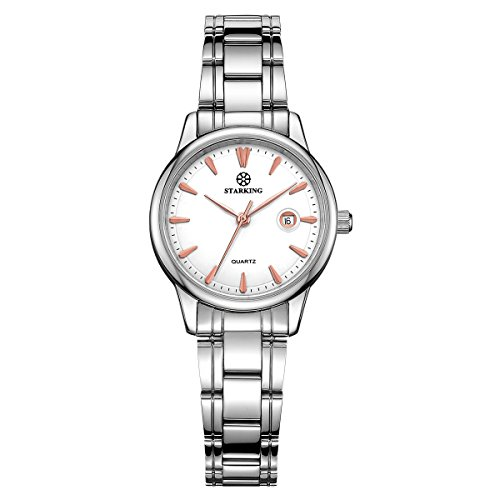 Waterproof Date Watch (STARKING Women Japanese Quartz Stainless Steel Silver BL0972 Date Analog Wrist Watch Waterproof)