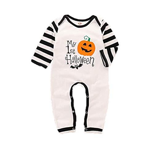 Dofel Baby Boys Girls First Halloween Long Sleeve Costume Onesie Jumpsuit (6-12 Month)