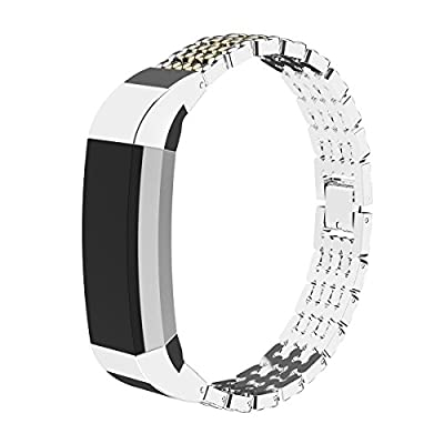 for Fitbit Alta Bands Replacement GHIJKL Gold and SilverAdjustable Accessory Wristband Sport Strap Bands Fitness Tracker