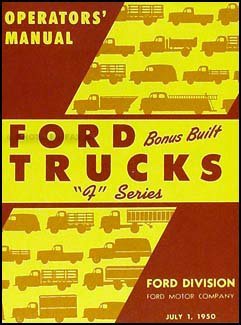 1950 Ford Pickup & Truck Owner's Manual Reprint