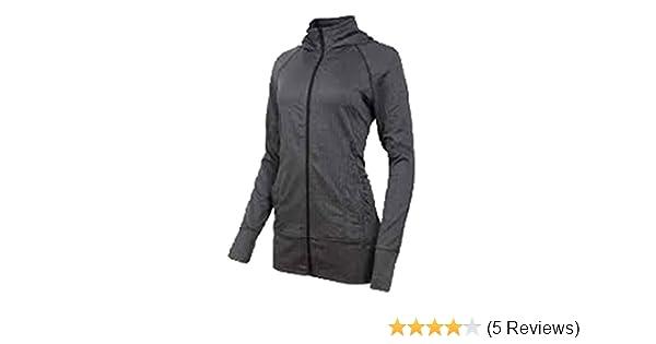 9f6068025eb21 Amazon.com  Mondetta Ladies Jacquared Hooded Knit Jacket Black Gray Medium   Sports   Outdoors