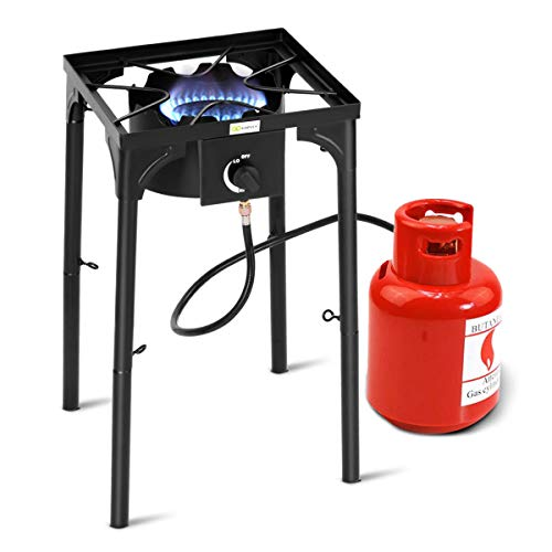 King Kooker C90PKB Portable 12-Inch Tripod-Style Outdoor Propane Cooker with Jet Burner