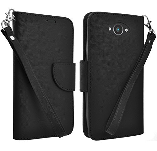 Motorola Droid Turbo Case - Magnetic Leather Flip Wallet Pouch Motorola Droid Turbo, Slim Folio Case with Kickstand, 2 Credit Card Slot Wallet Pouch (NOT Compatible with Ballistic Nylon Version) -