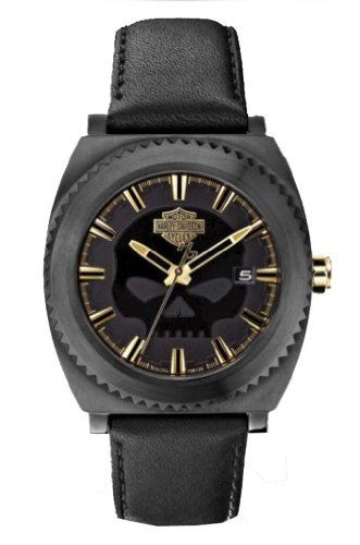 Harley-Davidson Men's Bulova Willie G Skull Wrist Watch 78B129