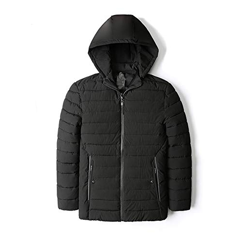 (YKARITIANNA Men's Down & Down Alternative Solid Quilted Autumn Winter Warm Casual Pocket Zipper Hoodie Thermal Top Coat)
