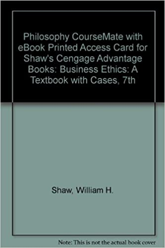 Amazon philosophy coursemate with ebook printed access card for philosophy coursemate with ebook printed access card for shaws cengage advantage books business ethics a textbook with cases 7th 7th edition fandeluxe Choice Image