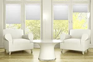 """9/16"""" Single Cell Light Filtering Cordless Cellular Shade, Color: Cream, Size: 18""""W x 48""""H"""