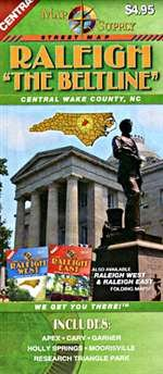"""Download Raleigh """"The Beltline"""", Central Wake County, North Carolina Street Map pdf"""