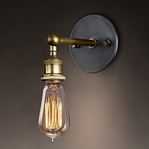 Nostralux modern industrial brass wall sconce edison lamp retro nostralux modern industrial brass wall sconce edison lamp retro wall light rustic vintage wall light mozeypictures Gallery