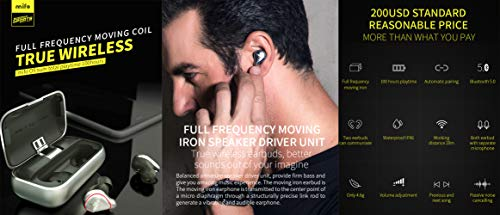 Bluetooth Headphone, Mifo O5 Latest Bluetooth 5.0 Wireless Sport Earbud,8H Talking 3D Stereo Noise Cancelling Headset,7-Level Waterproof Built-in HD Microphone. Silver Gray