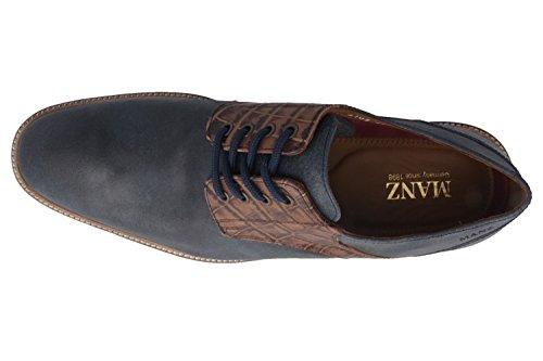 SALE - MANZ - Terni - Herren Business Schuhe - Blau Schuhe in Übergrößen
