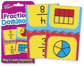 Game Card Learning Fractions - Fractions Dominoes Challenge Cards