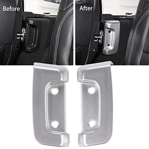 RT-TCZ Rear Door Lock Cover Interior Decoration Protection Buckle Trim Cover Sticker for For 2018-2019 Jeep Wrangler JL/JLU