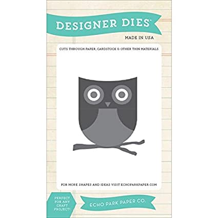 Amazon com: Echo Park Paper Company EPSDie9 Owl and Branch Die Scrapbook