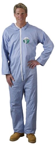 Lakeland Pyrolon Plus 2 Flame-Resistant Coverall, Disposable, Open Cuff, 4X-Large, Blue (Case of 25) by Lakeland Industries Inc (Image #2)