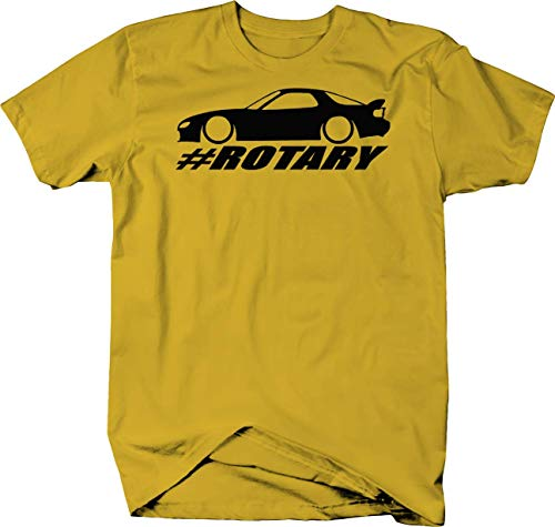 (Mazda RX-7 Lowered Custom Rotary Engine Racing Color Tshirt - Small)