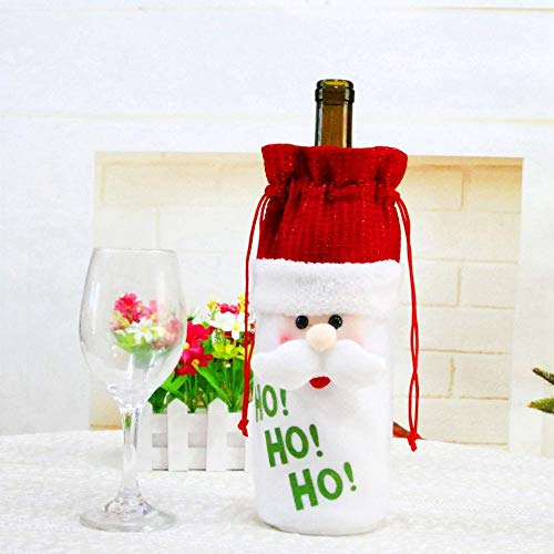 StrongLife Pendant & Drop Ornaments - 2018 Christmas Decor for Home 2018 Christmas Bottle Cover Wine Glass Charm Decor Noel 2018 New Year 2019 1 PCs