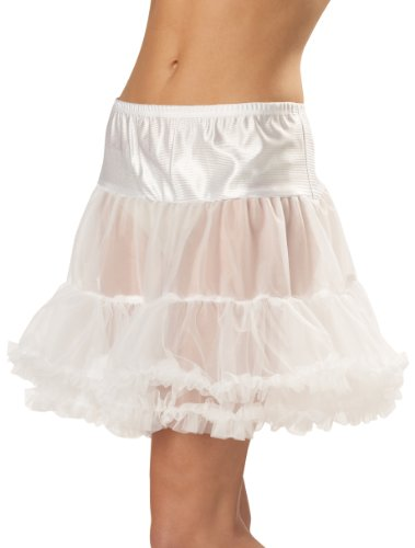 California Costumes Women's Ruffled Pettiskirt,White,Large/X-Large (Ruffled White Pettiskirt)