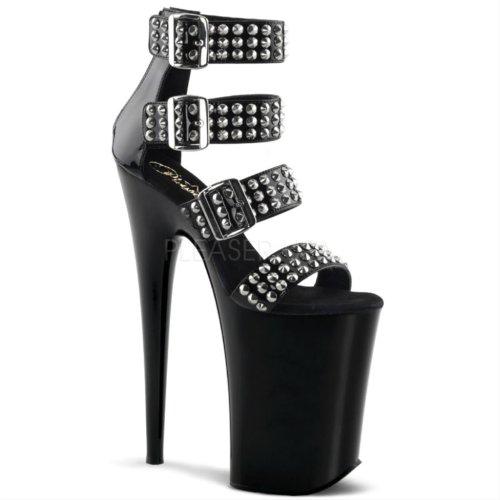 Pleaser Kvinders Uendeligt 989st Sandaler Sort / Sort Q6bDso