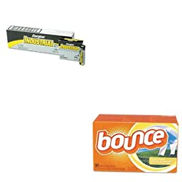 KITEVEEN91PAG80168CT - Value Kit - Bounce Fabric Softener Sheets (PAG80168CT) and Energizer Industrial Alkaline Batteries (EVEEN91)