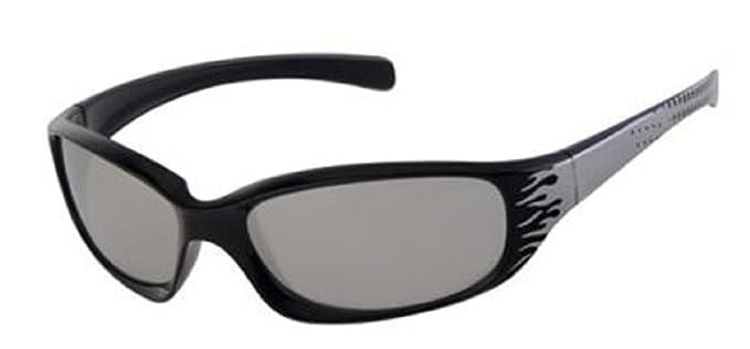7e9435228b1 Boys Wrap Sunglasses UV400 Mirrored Lenses (Black)  Amazon.co.uk ...