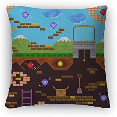 Gear New Retro Video Game Throw Pillow, Poplin, 26×26, GN9381
