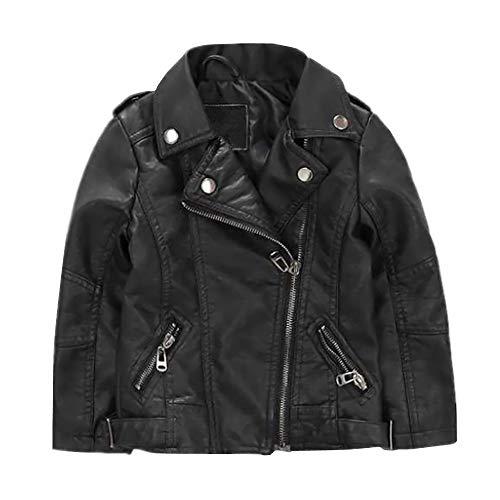 Girls Biker Costume (ZPW 2018 Boys Girls Spring/Autumn/Winter Motorcycle Faux Leather Jackets 2 Version)