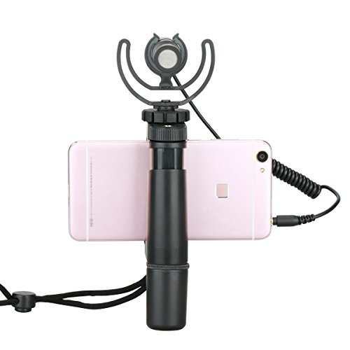 OCTO MOUNTS | F-Mount Mobile Smartphone Camera Grip Holder Handle Rig Monopod with Tripod Mount and Cold Shoe Mount for Filming Video on Most Smartphones - iPhone, iPhone Plus, Galaxy, Android by Octo Mounts (Image #2)