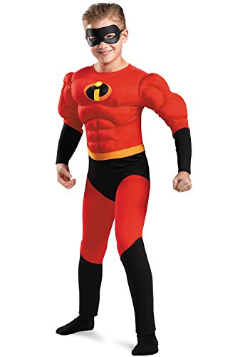 [Mr. Incredible Classic Muscle Costume - Small] (Dash Incredibles Costumes)