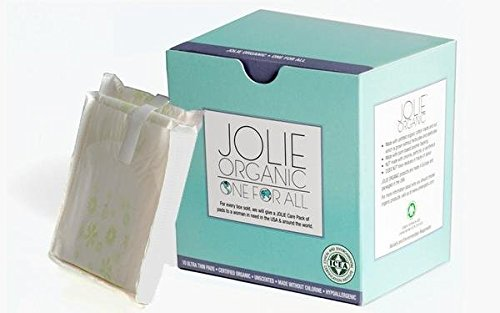 JOLIE ORGANIC Ultra Thin Day Pads Chlorine Free with wings- 10 count…