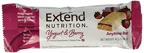 Extend Bar, Yogurt and Berry, 1.48 oz. Bars (15 Count) (Best Protein Bars For Diabetics)