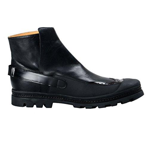 Maison Margiela Mm6 Femmes En Cuir Noir Bottines Chaussures Noir