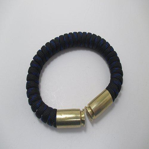 Thin Blue Line Paracord Bullet Casings Bracelet