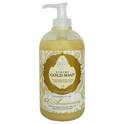 Nesti Dante Luxury Gold Soap 60th Anniversary Liquid Hand & Face Soap 500ml 16.9oz