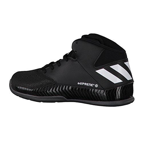 Adidas Nxt Lvl Spd V K, Chaussures de Basketball Mixte Enfant, Noir (Negbas/Ftwbla/Grpudg), 36 EU