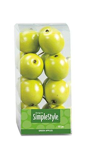 Decorative Apple - FloraCraft SimpleStyle 15-Piece Mini Decorative Fruit, Green Apple